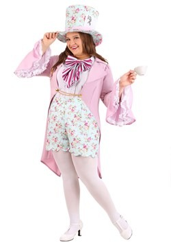 Plus Size Women's Pretty Mad Hatter Costume