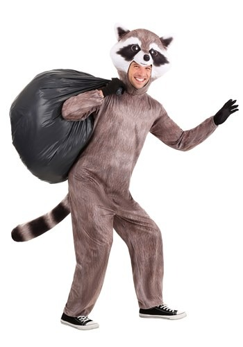 Adult Realistic Raccoon Costume Main 2