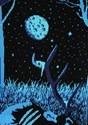 Prowling Werewolf Ugly Halloween Adult Sweater alt6