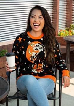 Adult Vintage Halloween Cat Halloween Sweater 1