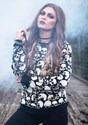 Adult Skulls Galore Halloween Sweater alt