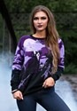 Witch's Moonlight Ride Ugly Halloween Sweater 1