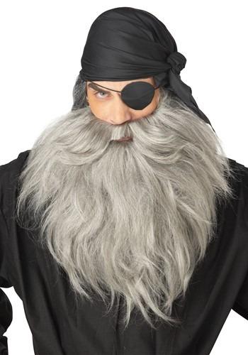 Mens Grey Pirate Beard