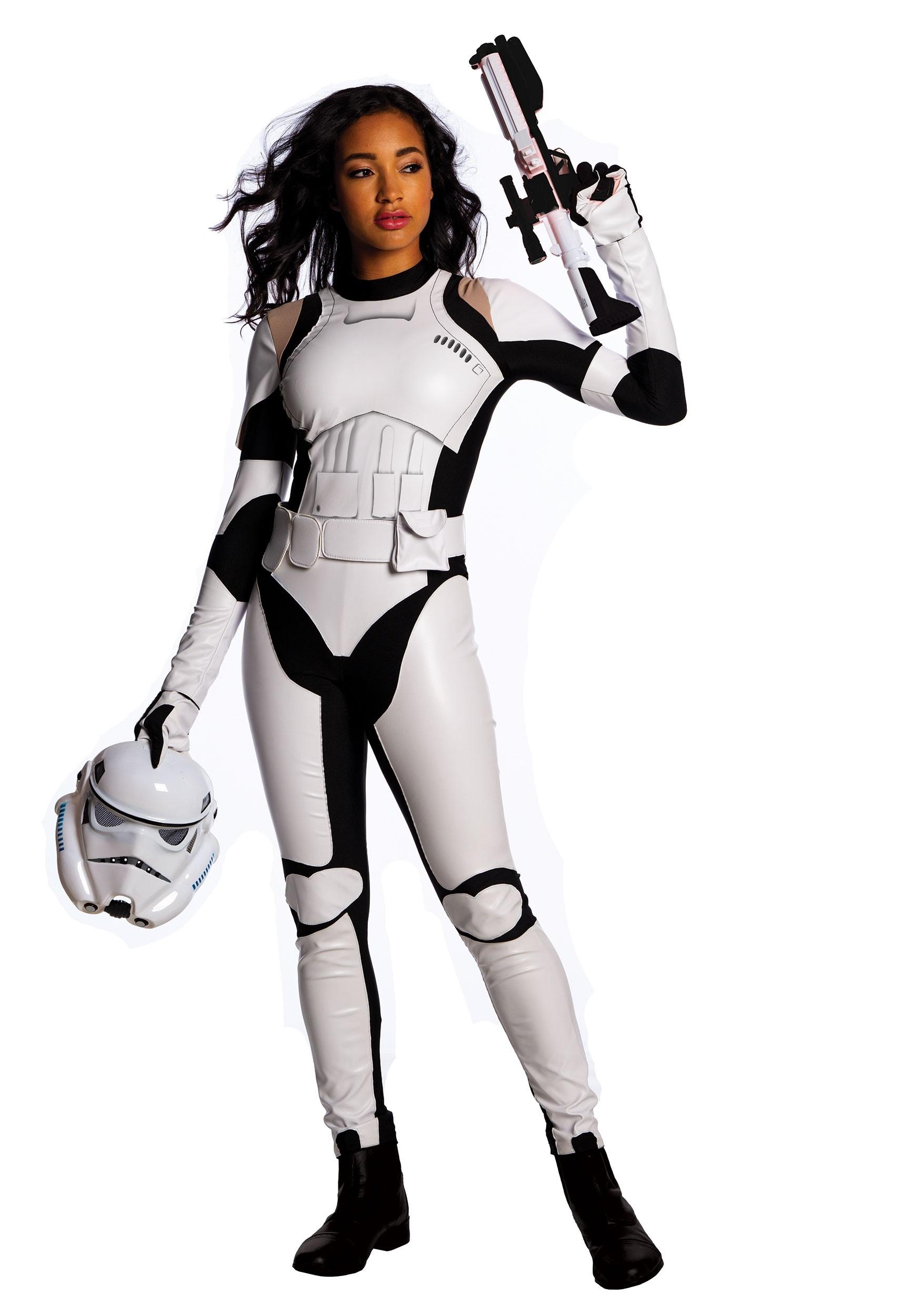 Female Stormtrooper Costume Adult Star Wars Halloween Fancy Dress