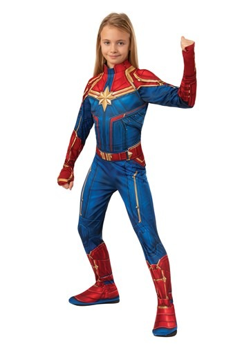Captain Marvel Girls Classic Costume