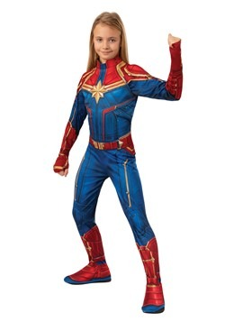 Captain Marvel Girls Classic Costume