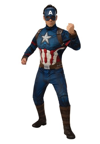 Avengers Endgame Deluxe Captain America Mens Costume