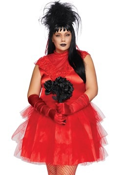 Womens Plus Beetle Bride Costume