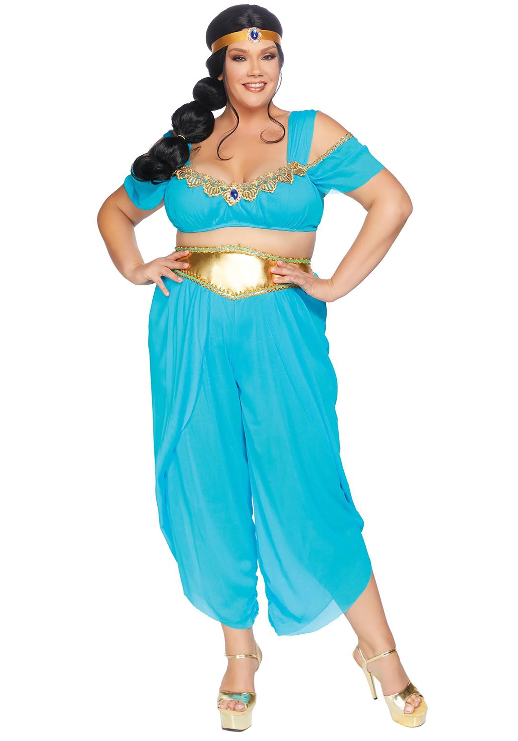 Plus Sexy Desert Princess Costume For Women-9129