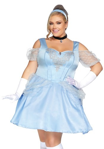 Womens Plus Glass Slipper Sweetie Costume