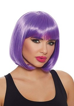 Womens Purple Short Bob Wig