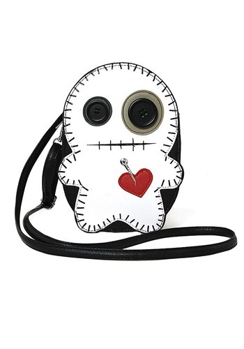 Voodoo Doll Black/White Purse