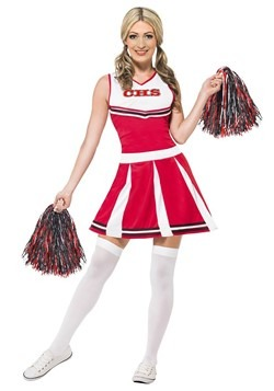 Women's Red Cheerleader Costume