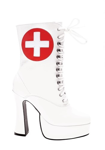 Women's White Nurse Boots