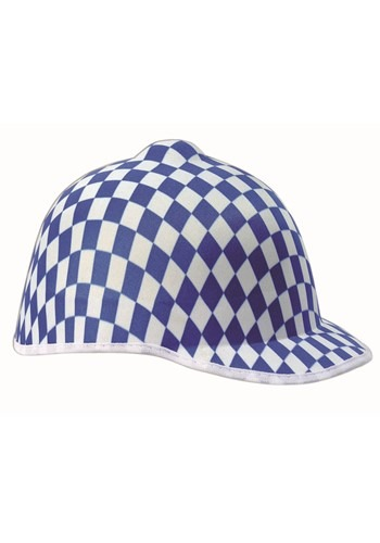 Blue Checkered Jockey Hat