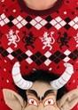 Adult 3D Krampus Head Unisex Ugly Christmas Sweater alt7