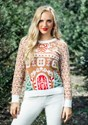Womens Gingerbread House Ugly Christmas Sweater