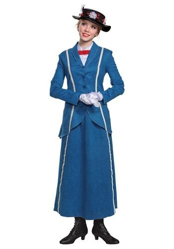 Mary Poppins Womens Mary Poppins Blue Coat Costume