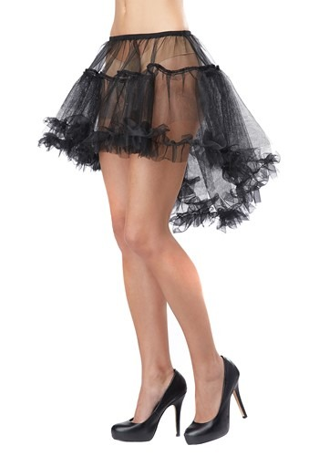 Women's Black High Low Petticoat