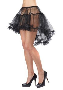 Women's Black High Low Petticoat