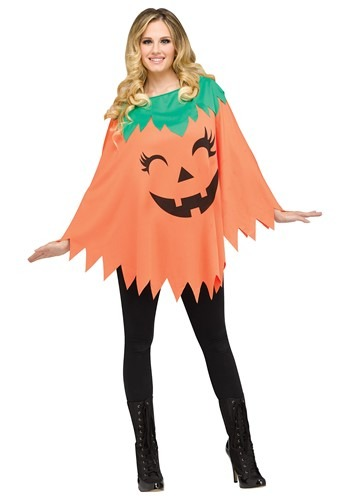 Women's Pumpkin Poncho