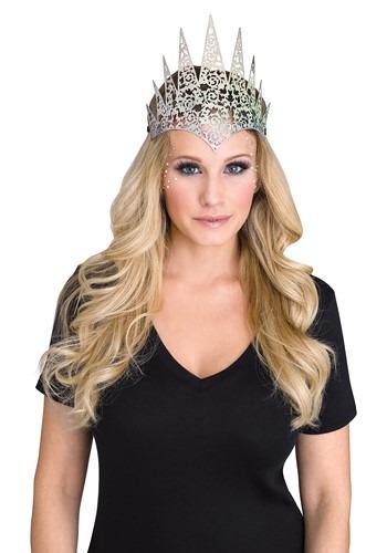 Silver Flexible Glitter Crown