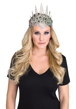 Silver Flexible Glitter Crown