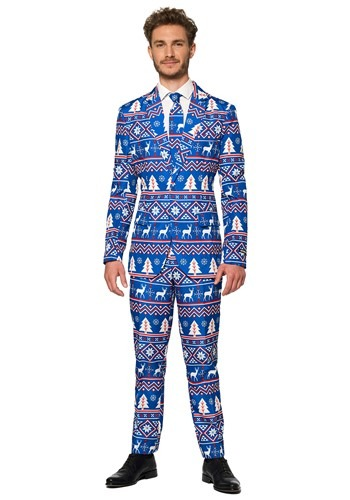 Suitmeister Christmas Blue Nordic Men's Suit