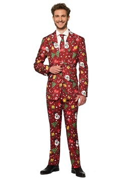 Suitmeister Christmas Red Light Up Men's Suit