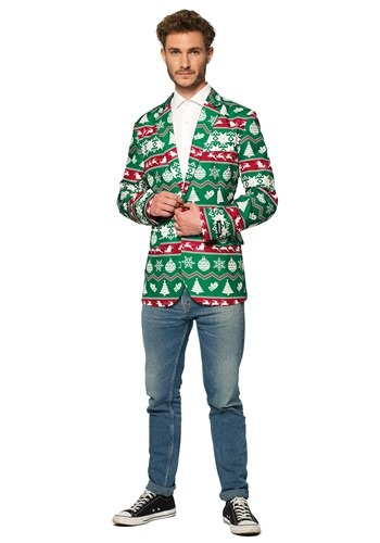 Suitmeister Christmas Green Nordic Men's Blazer