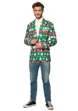 Suitmeister Christmas Green Nordic Men's Blazer