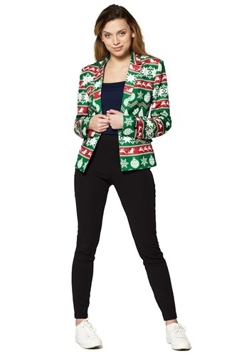 Suitmeister Christmas Green Nordic Women's Blazer