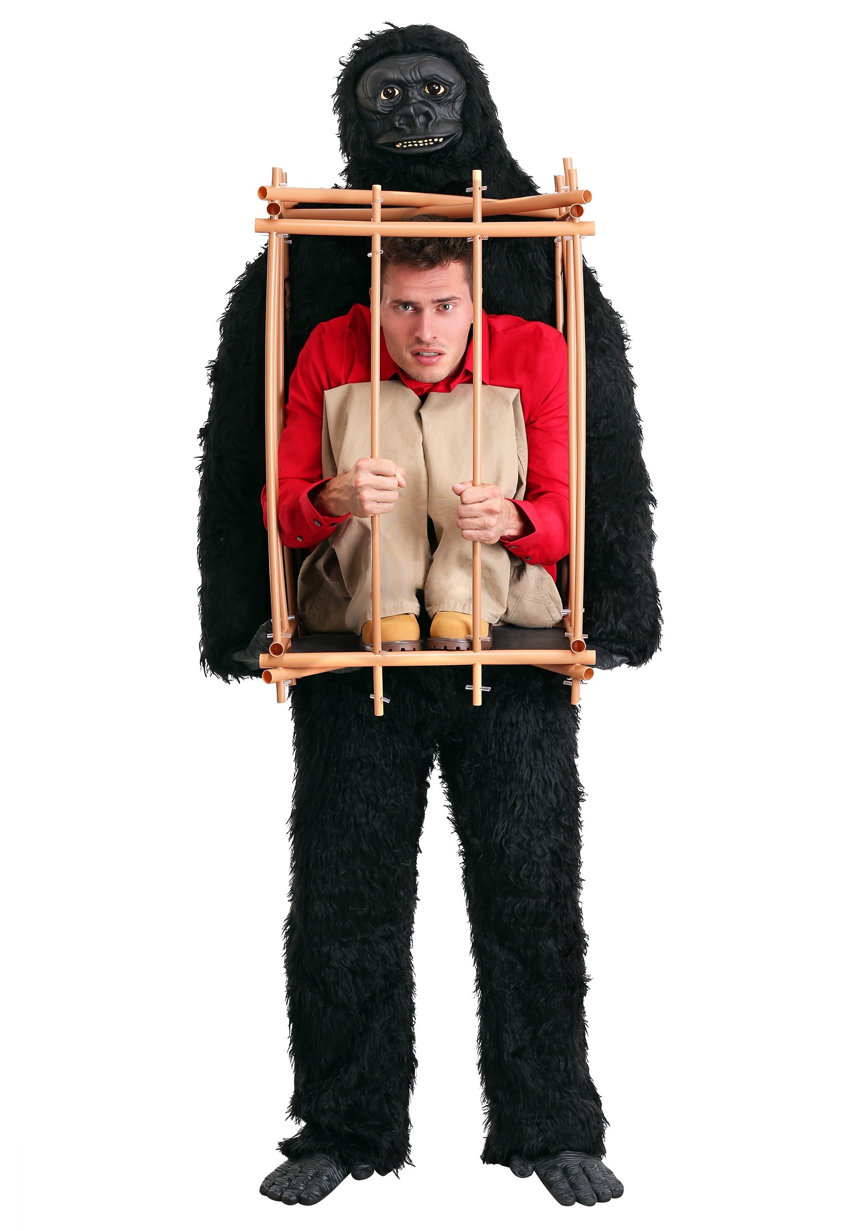 Man in a Gorilla Cage Costume  sc 1 st  Halloween Costumes UK : cheap halloween costume for men  - Germanpascual.Com