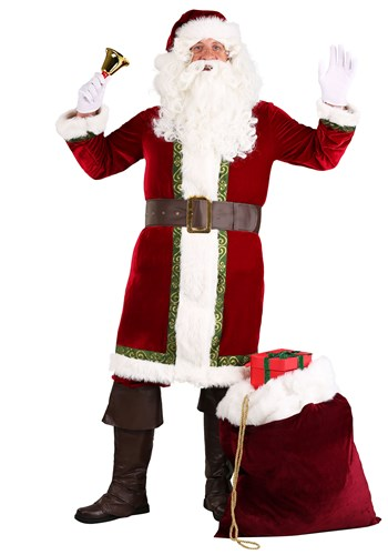 Men's Plus Size Old Time Santa Claus Costume