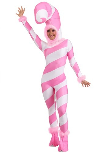 Women's Pink Candy Cane Jumpsuit