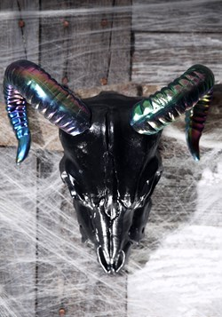 "11"" Oil Slick Black Ram Skull"