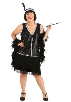 Plus Size Women's Onyx Flapper Costume