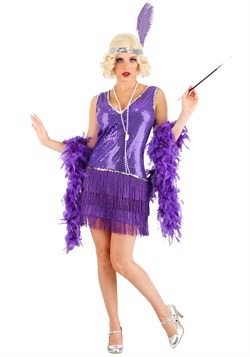 Women's Amethyst Flapper Costume