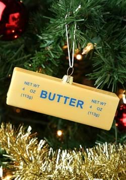 Glass Christmas Ornament Stick of Butter