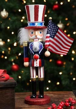 15 inch Wooden Uncle Sam Nutcracker
