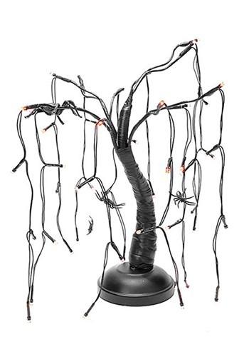 Halloween Spider Black Branch Purple LED Tree