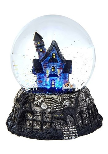 Haunted House Waterglobe w/ LED Décor