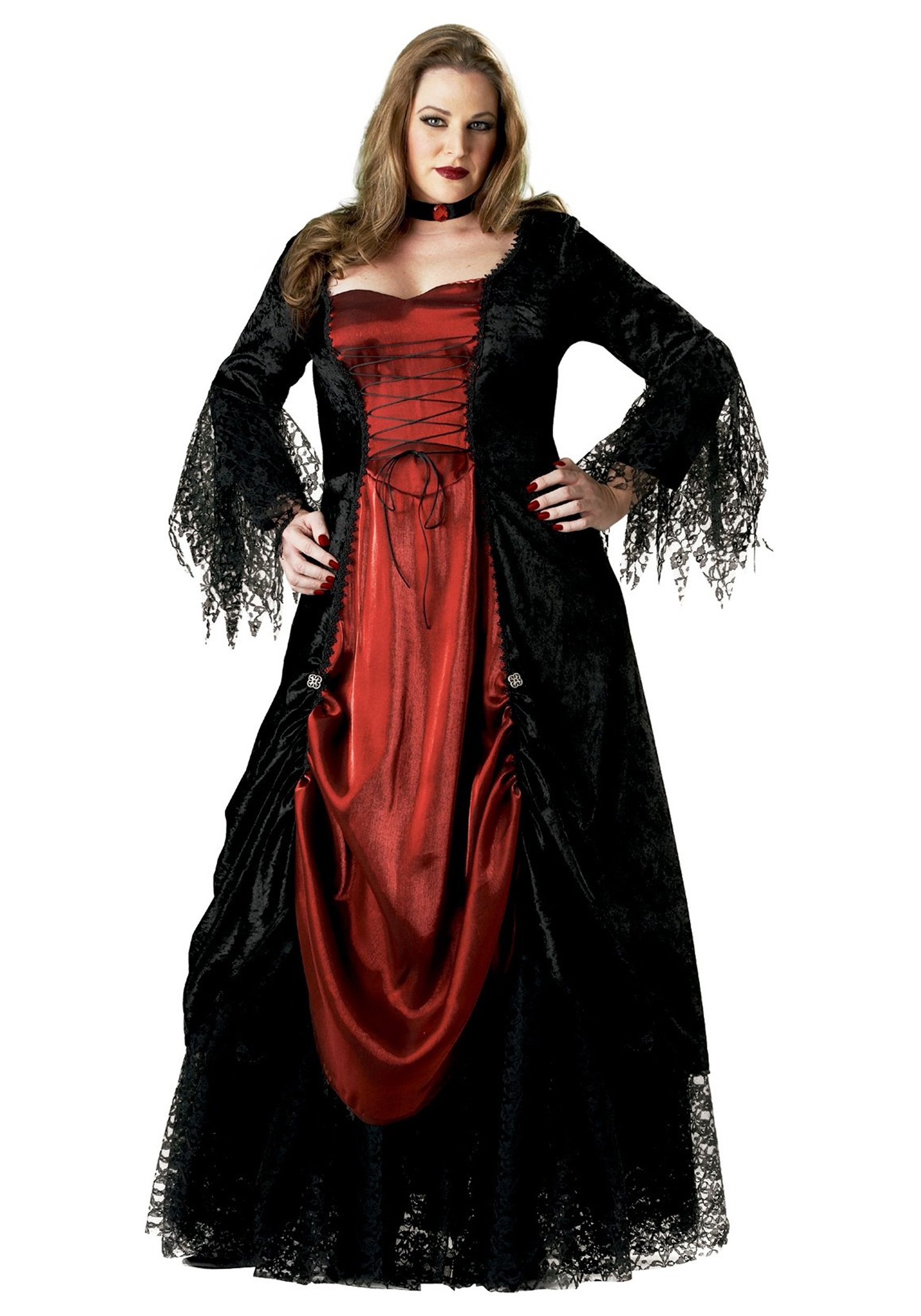 Womenu0027s Plus Size V&ire Costume  sc 1 st  Halloween Costumes UK : dracula costumes for women  - Germanpascual.Com