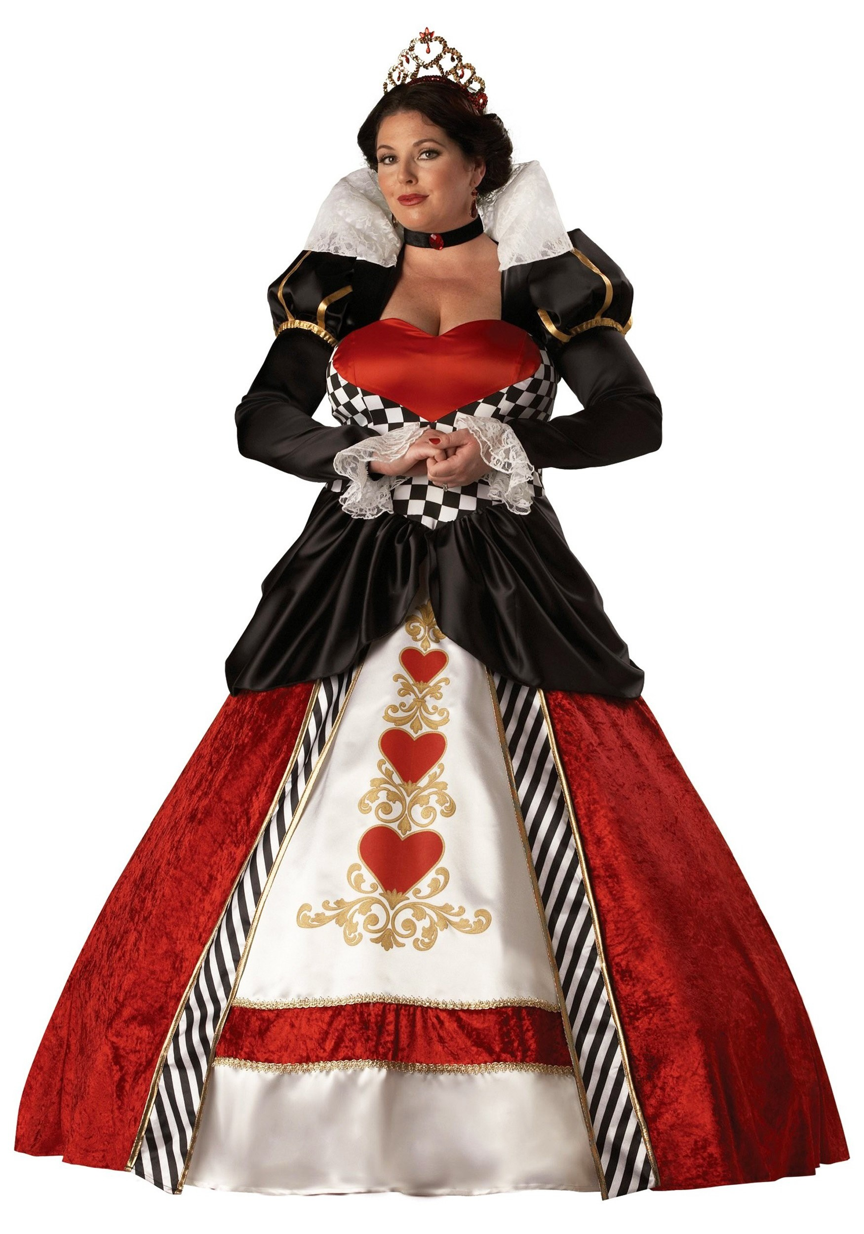 adult plus size queen of hearts costume