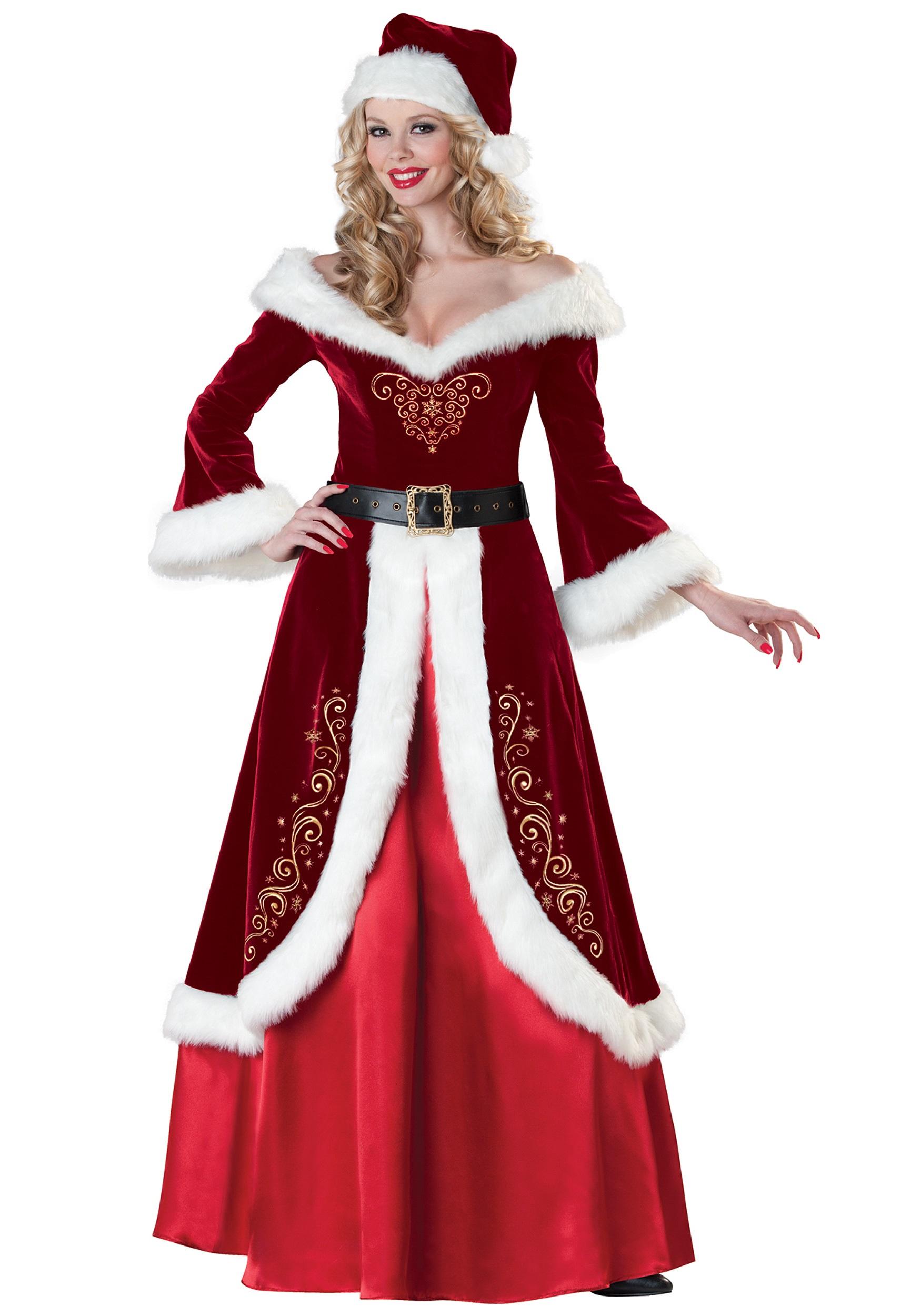 Mrs Claus Costumes Adult y Mrs Santa Claus Costume