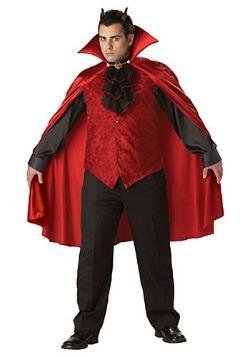 Men's Plus Size Devil Costume