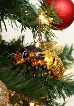 Noble Gems Glass Ornament Honey Bee