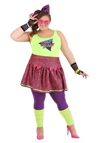 Plus Size Womens 80s Rad Costume