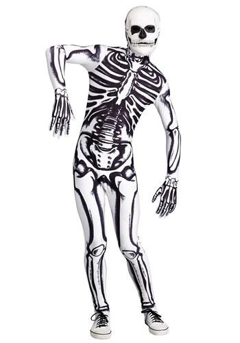 Men's White Skeleton Costume