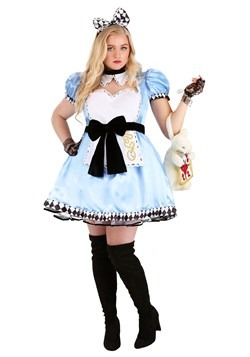 Plus Size Women's Alluring Alice Costume